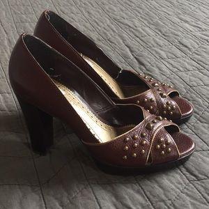 Franco Sarto 5 studded heels pumps